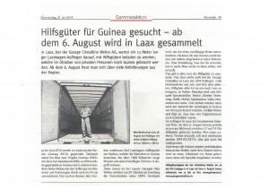 Zeitungsbericht Ruinaulta 31072014